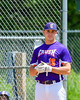 Cortland Crush Ethan Moore (16) being introduced before playing the Hornell Dodgers on Greg's Field at Beaudry Park in Cortland, New York on Saturday, June 18, 2016.