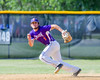 Cortland Crush Greg Mula (1) tracking down the ball against the Hornell Dodgers on Greg's Field at Beaudry Park in Cortland, New York on Saturday, June 18, 2016. Hornell won 11-3.