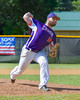 Cortland Crush Tommy Hyland (18) pitching against the Hornell Dodgers on Greg's Field at Beaudry Park in Cortland, New York on Saturday, June 18, 2016. Hornell won 11-3.