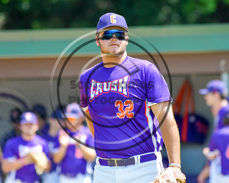 Cortland Crush Andrew Taft (32) being introduced before playing the Hornell Dodgers on Greg's Field at Beaudry Park in Cortland, New York on Saturday, June 18, 2016.