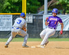 Cortland Crush Greg Mula (1) reaches Second Bass against the Hornell Dodgers on Greg's Field at Beaudry Park in Cortland, New York on Saturday, June 18, 2016. Hornell won 11-3.