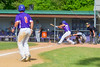Cortland Crush Andrew Taft (32) hits the ball against the Hornell Dodgers on Greg's Field at Beaudry Park in Cortland, New York on Saturday, June 18, 2016. Hornell won 11-3.