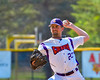 Cortland Crush Dylan Leahy (22) pitching against the Syracuse Junior Chiefs on Greg's Field at Beaudry Park in Cortland, New York on Sunday, June 19, 2016. Cortland won 6-5.