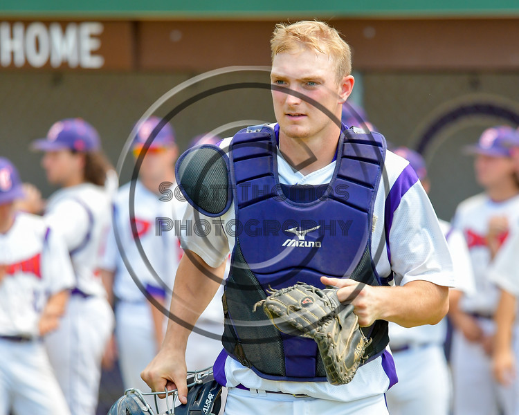 Cortland Crush Evan Moore (13) being introduced before playing the Syracuse Junior Chiefs on Greg's Field at Beaudry Park in Cortland, New York on Sunday, June 19, 2016.