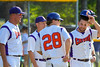 Cortland Crush coaches enjoy the victory over the Syracuse Junior Chiefs on Greg's Field at Beaudry Park in Cortland, New York on Sunday, June 19, 2016. Cortland won 6-5.