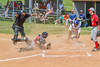 Cortland Crush Paul Ludden (10) is called safe for a run scored against the Syracuse Junior Chiefs on Greg's Field at Beaudry Park in Cortland, New York on Sunday, June 19, 2016. Cortland won 6-5.