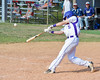 Cortland Crush Luke Gilbert (5) gets a hit against the the Syracuse Junior Chiefs on Greg's Field at Beaudry Park in Cortland, New York on Sunday, June 19, 2016. Cortland won 6-5.
