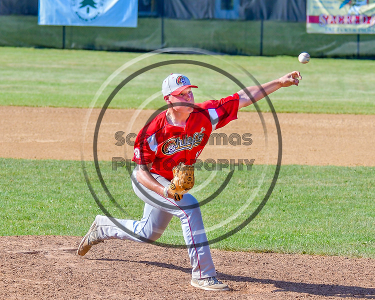 Syracuse Junior Chiefs Jason Wasilnak (11) pitching against the  Cortland Crush on Greg's Field at Beaudry Park in Cortland, New York on Sunday, June 19, 2016. Cortland won 6-5.