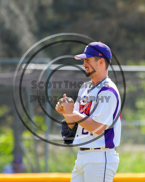 Cortland Crush Dylan Leahy (22) preps the ball before pitching against the Syracuse Junior Chiefs on Greg's Field at Beaudry Park in Cortland, New York on Sunday, June 19, 2016. Cortland won 6-5.