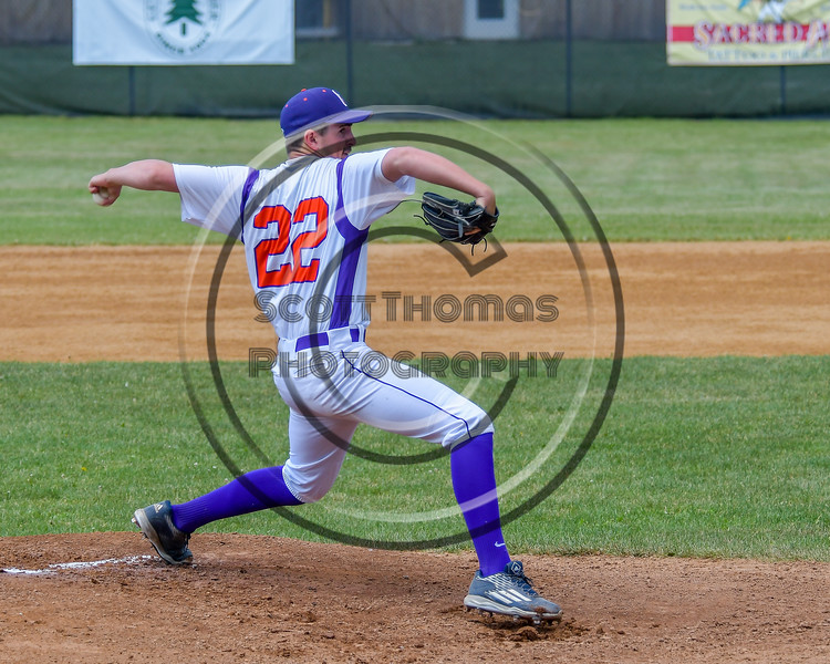 Cortland Crush Dylan Leahy (22) on the mound against the Syracuse Junior Chiefs on Greg's Field at Beaudry Park in Cortland, New York on Sunday, June 19, 2016. Cortland won 6-5.