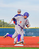 Cortland Crush David Murphy (8) rounding Third Base and heading for Home against the Syracuse Junior Chiefs at OCC Turf Field in Syracuse, New York on Wednesday, June 22, 2016. Cortland won 6-2.