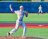 Cortland Crush Stephan Witkowski (17) throwing the ball to First Base against the Syracuse Junior Chiefs at OCC Turf Field in Syracuse, New York on Wednesday, June 22, 2016. Cortland won 6-2.