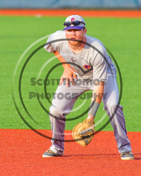 Cortland Crush George Haaland (34) playing First Base against the Syracuse Junior Chiefs at OCC Turf Field in Syracuse, New York on Wednesday, June 22, 2016. Cortland won 6-2.