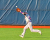 Cortland Crush Derek Martin (29) runs down a fly ball for an out against the Syracuse Junior Chiefs at OCC Turf Field in Syracuse, New York on Wednesday, June 22, 2016. Cortland won 6-2.