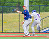 Cortland Crush Broderick Santilli (3) beats the throw to First Base against the Syracuse Junior Chiefs at OCC Turf Field in Syracuse, New York on Wednesday, June 22, 2016. Cortland won 6-2.
