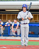 Cortland Crush Broderick Santilli (3) before his at bat against the Syracuse Junior Chiefs at OCC Turf Field in Syracuse, New York on Wednesday, June 22, 2016. Cortland won 6-2.