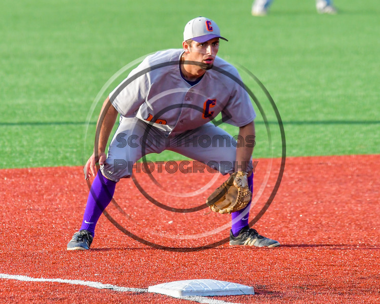 Cortland Crush Paul Ludden (10) playing Third Base against the Syracuse Junior Chiefs at OCC Turf Field in Syracuse, New York on Wednesday, June 22, 2016. Cortland won 6-2.