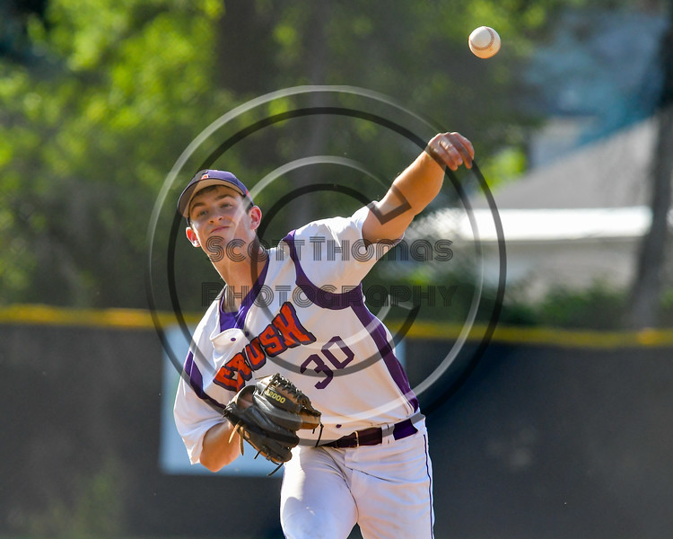 Cortland Crush William Ginsberg (30) pitching against the Sherrill Silversmiths on Greg's Field at Beaudry Park in Cortland, New York on Sunday, June 26, 2016. Cortland won 6-4.