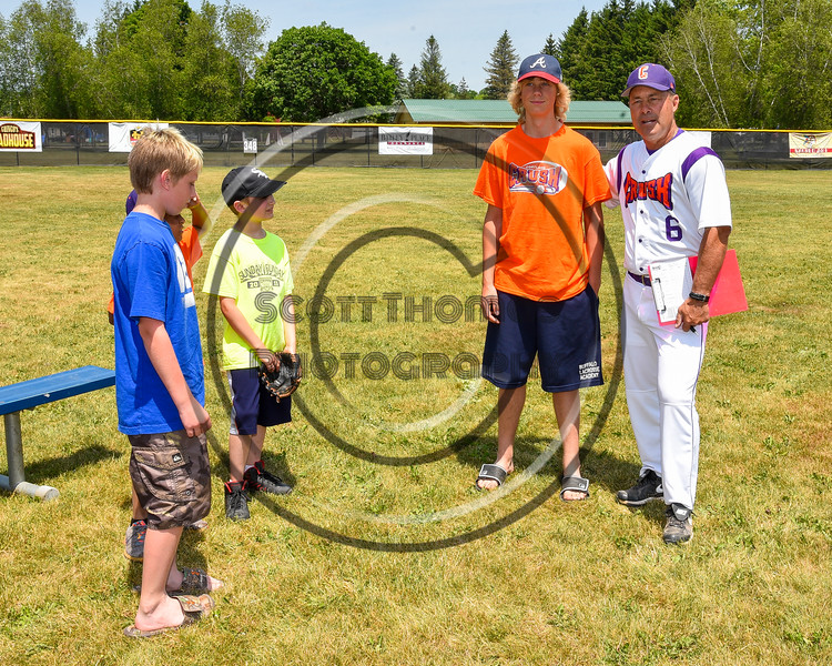 Crush Critters with the  Cortland Crush and Homer the Turtle on Greg's Field at Beaudry Park in Cortland, New York on Sunday, June 26, 2016.