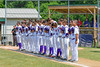 Cortland Crush players during the National Anthem before playing the Sherrill Silversmiths on Greg's Field at Beaudry Park in Cortland, New York on Sunday, June 26, 2016.