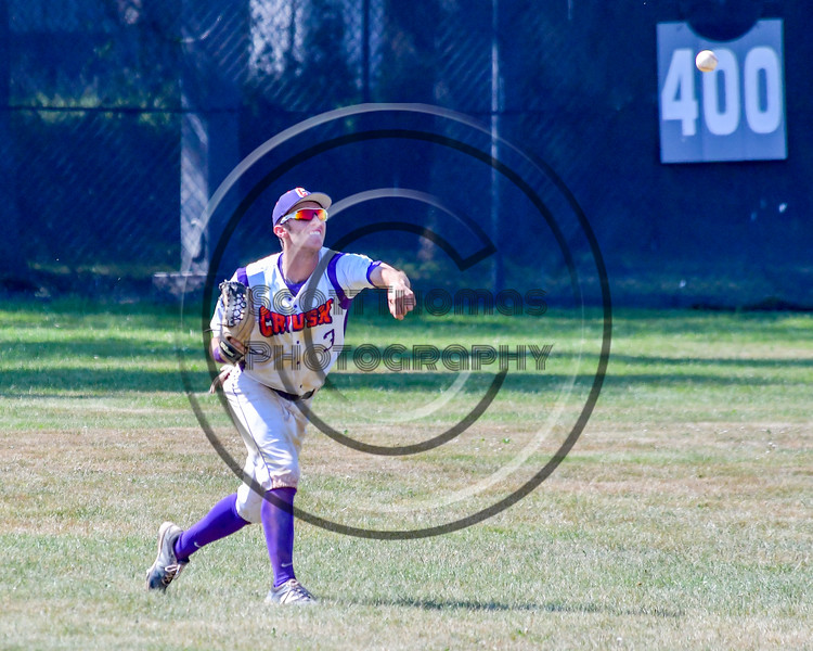 Cortland Crush Broderick Santilli (3) throws the ball against the Sherrill Silversmiths on Greg's Field at Beaudry Park in Cortland, New York on Sunday, June 26, 2016. Cortland won 6-4.