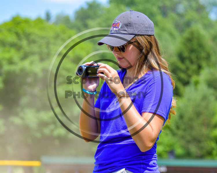 Cortland Crush Multimedia Sports Director Savanna Collins on Greg's Field at Beaudry Park in Cortland, New York on Sunday, June 26, 2016.