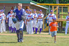 Cortland Crush Evan Moore (13) being introduced before playing the Sherrill Silversmiths on Greg's Field at Beaudry Park in Cortland, New York on Sunday, June 26, 2016.