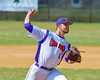 Cortland Crush Cody Shelton (11) pitching against the Sherrill Silversmiths on Greg's Field at Beaudry Park in Cortland, New York on Sunday, June 26, 2016. Cortland won 6-4.
