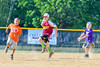 Kids run the bases after the 7th inning of the Cortland Crush and Sherrill Silversmiths game on Greg's Field at Beaudry Park in Cortland, New York on Sunday, June 26, 2016. Cortland won 6-4.