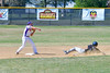 Cortland Crush Greg Mula (1) throws the ball to First Base to complete a double play agianst the Sherrill Silversmiths on Greg's Field at Beaudry Park in Cortland, New York on Sunday, June 26, 2016. Cortland won 6-4.