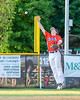 Cortland Crush Patrick Messinger (14) not able to stop a line drive by a Syracuse Salt Cats player on Greg's Field at Beaudry Park in Cortland, New York on Wednesday, June 29, 2016. Cortland won 5-4 in 13 innings.