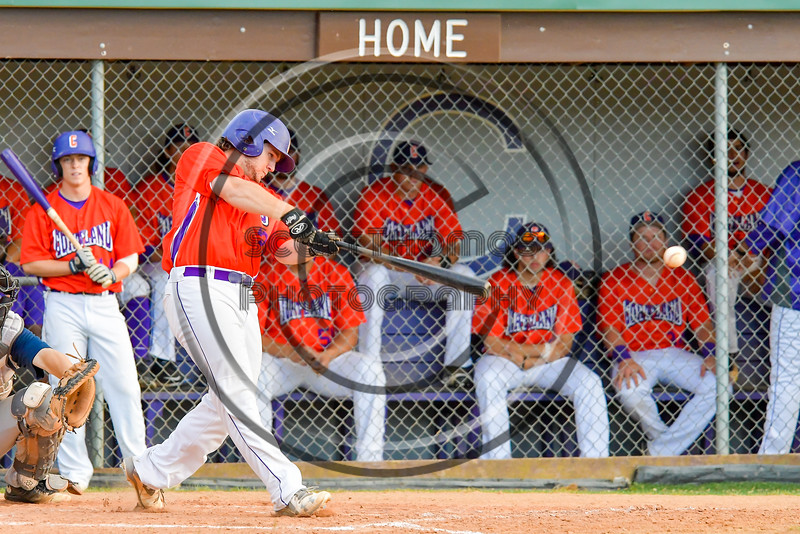 Cortland Crush Clayton Jeffries (42) hits the ball against the Syracuse Salt Cats on Greg's Field at Beaudry Park in Cortland, New York on Wednesday, June 29, 2016. Cortland won 5-4 in 13 innings.