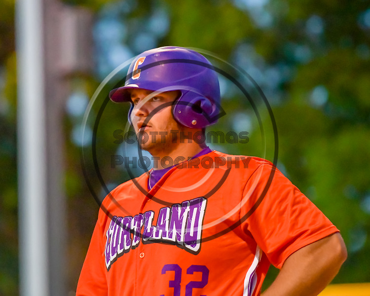 Cortland Crush Andrew Taft (32) playing against the Syracuse Salt Cats on Greg's Field at Beaudry Park in Cortland, New York on Wednesday, June 29, 2016. Cortland won 5-4 in 13 innings.