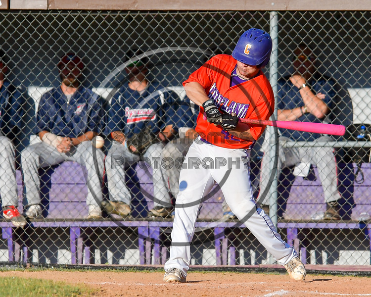 Cortland Crush Clayton Jeffries (42) swinging at a pitch against the Syracuse Salt Cats on Greg's Field at Beaudry Park in Cortland, New York on Wednesday, June 29, 2016. Cortland won 5-4 in 13 innings.