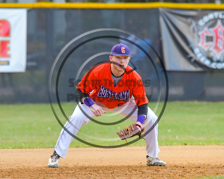 Cortland Crush Aaron Edelmon (62) playing Third Base against the Syracuse Salt Cats on Greg's Field at Beaudry Park in Cortland, New York on Wednesday, June 29, 2016. Cortland won 5-4 in 13 innings.