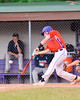 Cortland Crush Anthony Searles (2) hits the balla gainst the Syracuse Salt Cats on Greg's Field at Beaudry Park in Cortland, New York on Wednesday, June 29, 2016. Cortland won 5-4 in 13 innings.