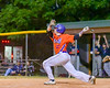 Cortland Crush Aaron Edelmon (62) watches the ball after a hit against the Syracuse Salt Cats on Greg's Field at Beaudry Park in Cortland, New York on Wednesday, June 29, 2016. Cortland won 5-4 in 13 innings.