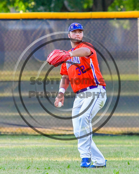 Cortland Crush Andrew Taft (32) with the ball against the Syracuse Salt Cats on Greg's Field at Beaudry Park in Cortland, New York on Wednesday, June 29, 2016. Cortland won 5-4 in 13 innings.