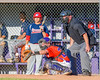 Cortland Crush TJ Wegmann (26) catching against the Syracuse Salt Cats on Greg's Field at Beaudry Park in Cortland, New York on Wednesday, June 29, 2016. Cortland won 5-4 in 13 innings.