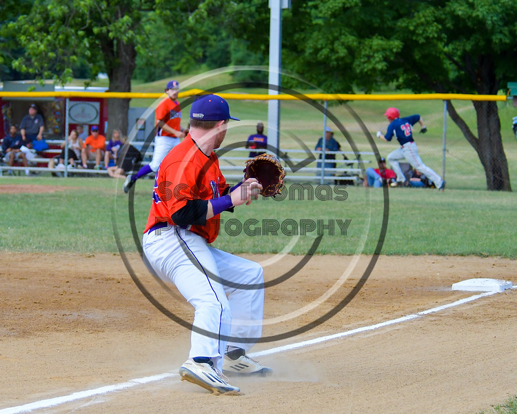 Cortland Crush Aaron Edelmon (62) fields the ball at Thrid Base against the Syracuse Salt Cats on Greg's Field at Beaudry Park in Cortland, New York on Wednesday, June 29, 2016. Cortland won 5-4 in 13 innings.