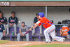 Cortland Crush Patrick Messinger (14) bunting the ball against the Syracuse Salt Cats on Greg's Field at Beaudry Park in Cortland, New York on Wednesday, June 29, 2016. Cortland won 5-4 in 13 innings.