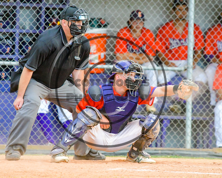 Cortland Crush TJ Wegmann (26) catchign against the Syracuse Salt Cats on Greg's Field at Beaudry Park in Cortland, New York on Wednesday, June 29, 2016. Cortland won 5-4 in 13 innings.