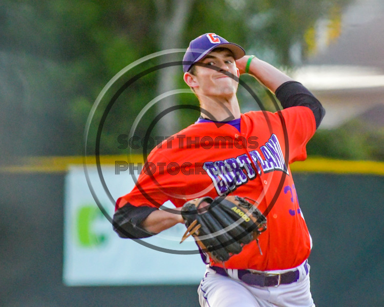 Cortland Crush William Ginsberg (30) on the mound against the Syracuse Salt Cats on Greg's Field at Beaudry Park in Cortland, New York on Wednesday, June 29, 2016. Cortland won 5-4 in 13 innings.