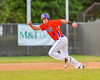 Cortland Crush Ethan Moore (16) taking off for Second Base against the Syracuse Salt Cats on Greg's Field at Beaudry Park in Cortland, New York on Wednesday, June 29, 2016. Cortland won 5-4 in 13 innings.