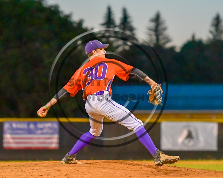 Cortland Crush William Ginsberg (30) ptiching against the Syracuse Salt Cats on Greg's Field at Beaudry Park in Cortland, New York on Wednesday, June 29, 2016. Cortland won 5-4 in 13 innings.
