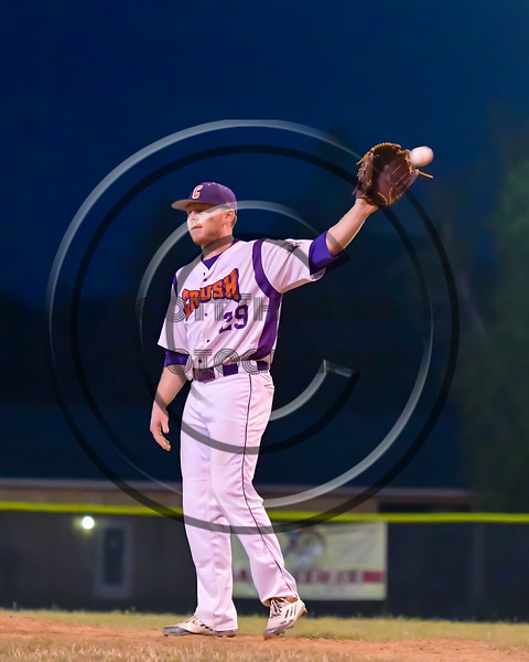 Cortland Crush Derek Martin (29) on the mound against the Rome Generals on Greg's Field at Beaudry Park in Cortland, New York on Wednesday, July 6, 2016. Cortland won 7-2.
