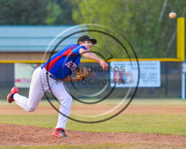 Rome Generals Anothny Krokos (19) pitching against the  Cortland Crush on Greg's Field at Beaudry Park in Cortland, New York on Wednesday, July 6, 2016. Cortland won 7-2.