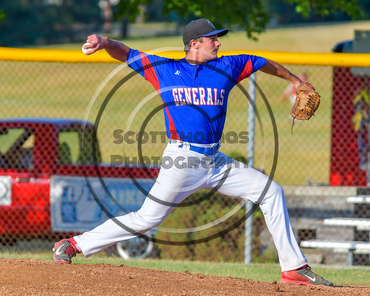 Rome Generals Anothny Krokos (19) on the mound against the  Cortland Crush on Greg's Field at Beaudry Park in Cortland, New York on Wednesday, July 6, 2016. Cortland won 7-2.
