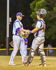 Cortland Crush Derek Martin (29) gets congratulated by Anthony Searles (2) after getting the last out against the Rome Generals on Greg's Field at Beaudry Park in Cortland, New York on Wednesday, July 6, 2016. Cortland won 7-2.