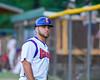 Cortland Crush Third Base Coach John Buczek (9) on Greg's Field at Beaudry Park in Cortland, New York on Wednesday, July 6, 2016.